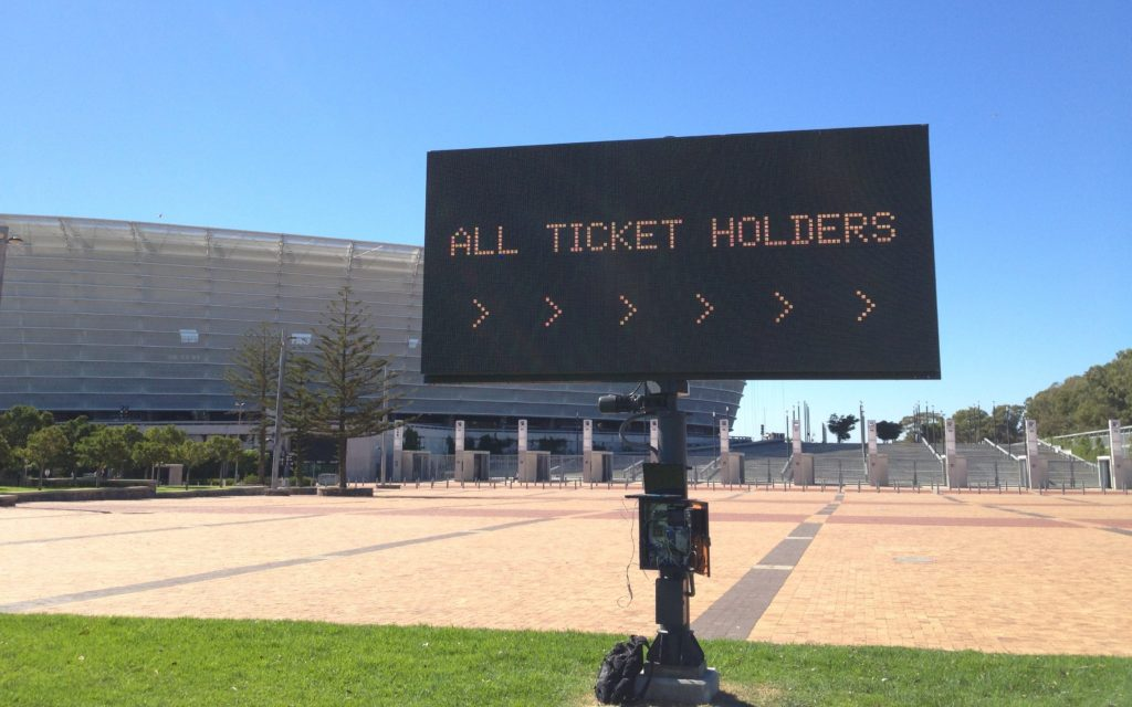 Variable Message Sign Cape Town Stadium Project