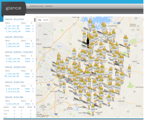 270 school beacons in Gwinnett County, GA after a record-breaking 5-day deployment!