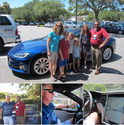 Shawn Leight (VP of ITE) and family at ITE Summer Seminar experiencing Autopilot