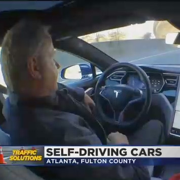 Self-driving cars on Atlanta roads