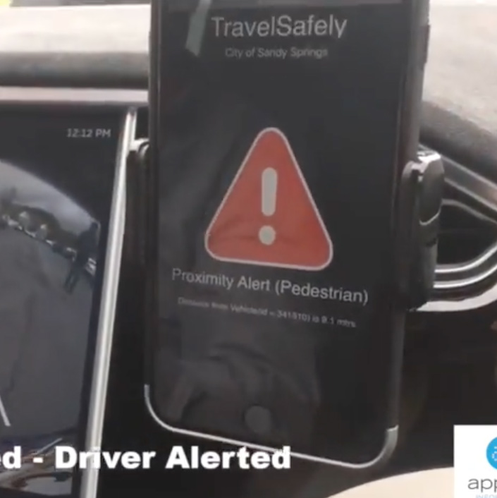 TravelSafely Pedestrian Proximity Application Demonstration
