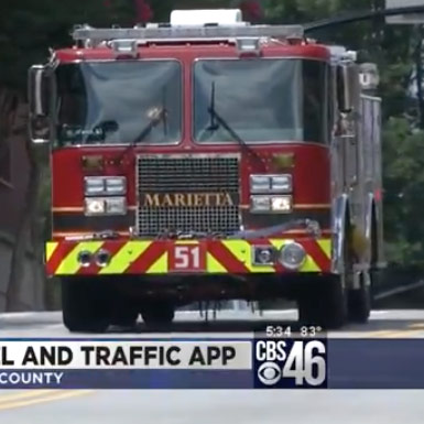 CBS 46 features launch of TravelSafely app in Marietta, GA