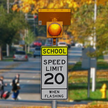 How much does a connected school zone flashing beacon system cost?